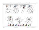 Chiffres 2 (math et coloriage)