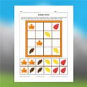 Sudoku de feuilles d'automne