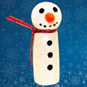 Bonhomme de neige avec un bouchon