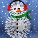 Bonhomme de neige avec peinture au doigt