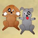 Marionnette chien (sac en papier)