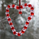 Coeur avec des perles
