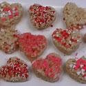 Coeurs en Rice Krispies