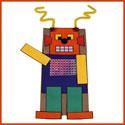 Marionnette robot (sac en papier)