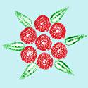 Peindre des roses avec du carton