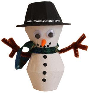 Bonhomme de neige décoré
