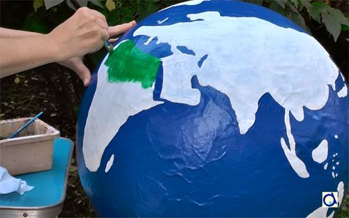Resultado de imagen para faire un globe terrestre avec un ballon