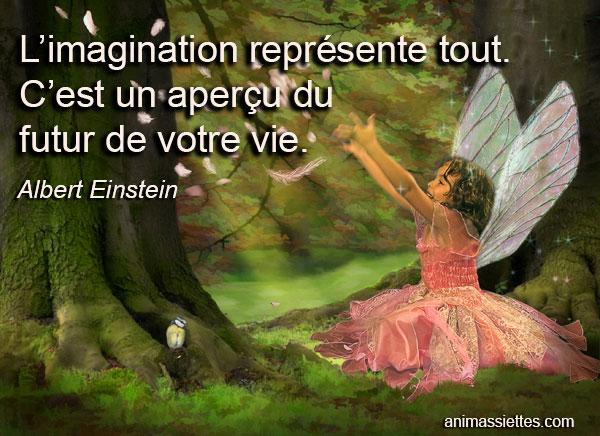 L Imagination Représente Tout Citation Animassiettes