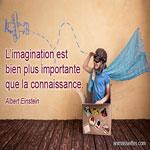 L'imagination est bien plus importante