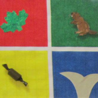 Le drapeau canadien des élèves de MS-GS de l'école Pasteur