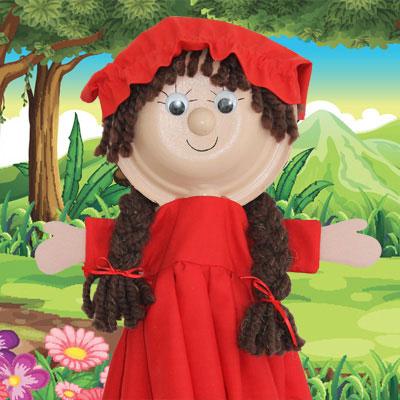Marionnette jeune fille tuto de bricolage animassiettes - Fabriquer une marionnette articulee ...