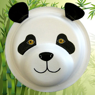 masque de panda tuto de bricolage animassiettes. Black Bedroom Furniture Sets. Home Design Ideas