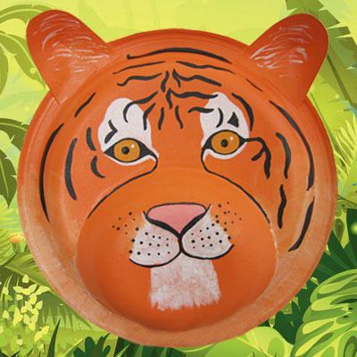 masque de tigre tuto de bricolage animassiettes. Black Bedroom Furniture Sets. Home Design Ideas