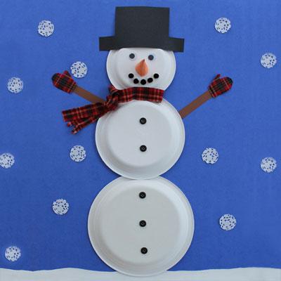 Bonhomme de neige 1 tuto gratuit animassiettes - Comment faire un bonhomme de neige en papier ...