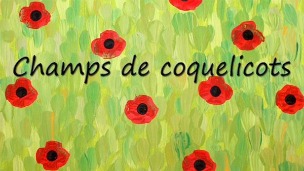 Champ de coquelicots | Tuto gratuit | Animassiettes