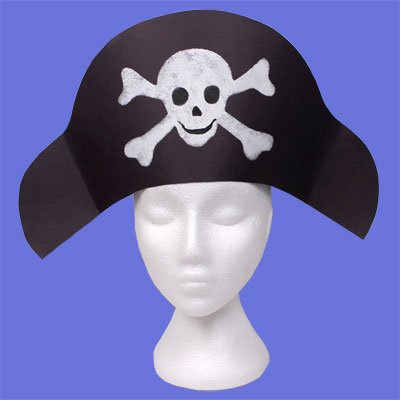 chapeau de pirate tuto gratuit animassiettes. Black Bedroom Furniture Sets. Home Design Ideas