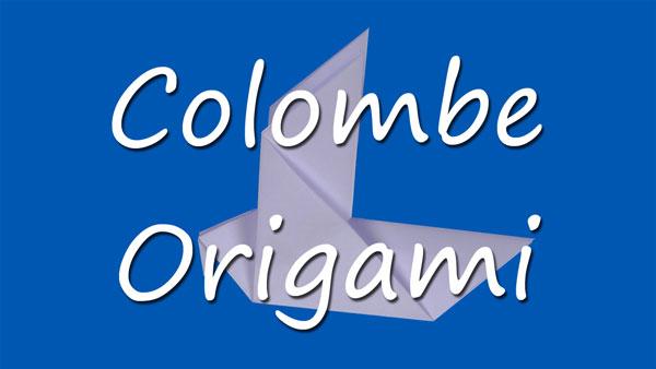 Colombe en origami tuto gratuit animassiettes - Comment dessiner une colombe ...