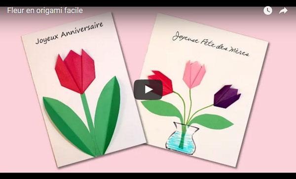 Tulipe simple en origami animassiettes - Tulipe a dessiner ...