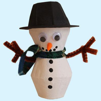 Petit bonhomme de neige tuto gratuit animassiettes - Comment faire un bonhomme de neige en papier ...