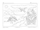 Stégosaure et ptérodactyle