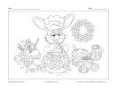 Lapin et gâteau de Pâques