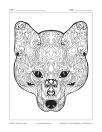 Visage de chien ou de loup