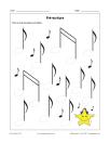 Pré-écriture 129 (Notes de musique)