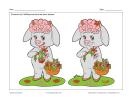 Mouton avec fleurs