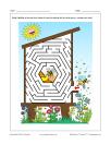 Labyrinthe Ruche d'abeilles