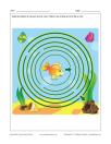 Labyrinthe Poisson dans la mer
