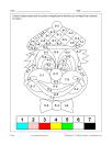 Clown (math et coloriage)