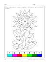 Fleur (math et coloriage)