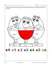 Oeufs (math et coloriage)