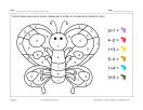 Papillon (math et coloriage)
