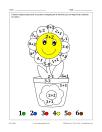 Pot à fleur (math et coloriage)