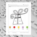 Cadeau (math et coloriage)
