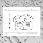 Maison (math et coloriage)