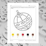 Boule de Noël (math et coloriage)
