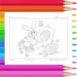Le lapin peintre