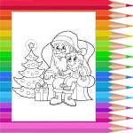 Sur les genoux du Père Noël
