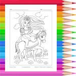 Princesse à cheval