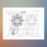 Pré-écriture 38 (Fleur)
