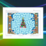 Labyrinthe Noël des animaux