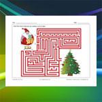 Labyrinthe Sapin de Noël