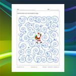 Labyrinthe du Père Noël dans la tempête