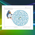 Labyrinthe pingouin et poisson