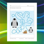 Labyrinthe pingouin et traîneau
