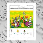 Classer et compter - Pâques