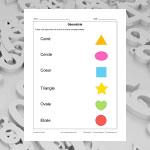 Nomme les formes géométriques