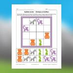 Sudoku d'animaux en ballons